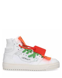 High-Top Sneakers 3.0 OFF COURT calfskin Logo white
