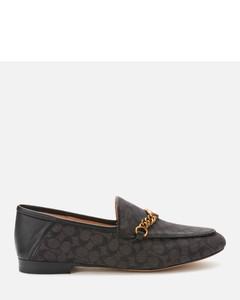 Women's Helena C Chain Signature Loafers - Black