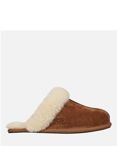 Women's Scuffette II Sheepskin Slippers - Chestnut