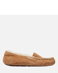 Women's Ansley Moccasin Suede Slippers - Chestnut