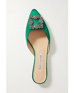 Hangisi Embellished Satin Slippers