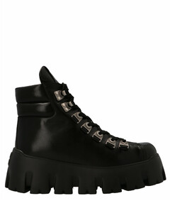 Chunky Sole Lace-Up Boots