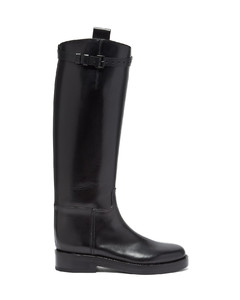 Panelled laced boots