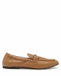 T-logo leather loafers