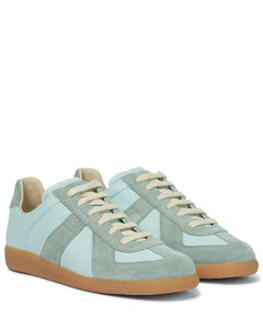 Replica皮革与绒面革运动鞋