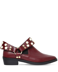 30mm Griet Embellished Leather Boots