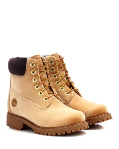 x Timberland velvet ankle boots