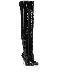 Shiloh vinyl over-the-knee boots