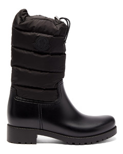 Ginette padded nylon and leather rain boots