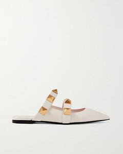 Garavani Upstud Leather Point-toe Slippers