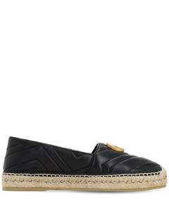 10mm Quilted Leather Espadrilles