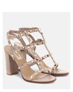 Valentino Garavani Rockstud皮革凉鞋