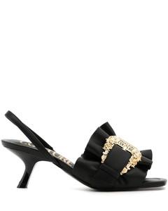 粉色Kanda高跟涼鞋