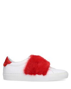 Low-Top Sneakers URBAN STREET calfskin red white