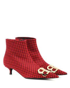 BB印花羊毛及踝靴
