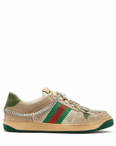 Screener crystal-embellished low-top trainers