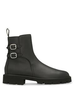 Margaret Double Buckled Boot in Calfskin