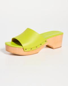 Galaviti 85绒面革和网布高跟鞋