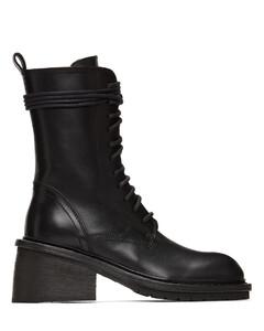 黑色Chunky-Heel踝靴