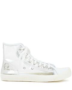 Woman Tabi Leather-trimmed Pvc Split-toe Sneakers