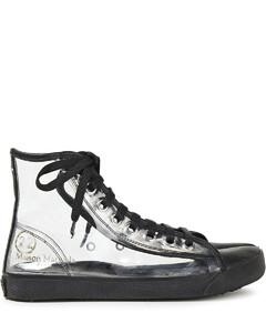 Woman Leather-trimmed Pvc Split-toe Sneakers
