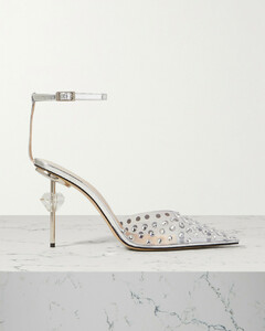 Paris Crystal-embellished Pvc And Patent-leather Sandals