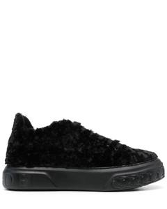 Ladies Cognac New Court Sneakers