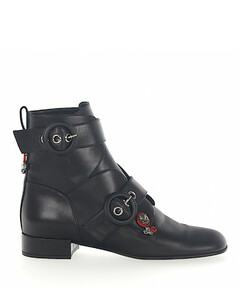 Ankle Boots calfskin Gem black