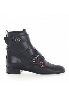 Ankle Boots calfskin Gem black