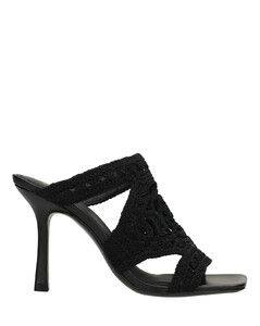 Perlow ribbed knit and patent-leather ankle boots