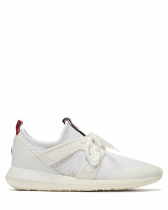 Meline mesh and leather low-top trainers