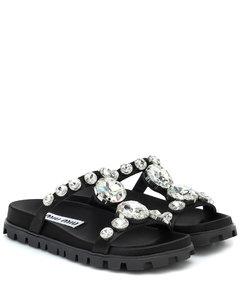 Crystal-embellished sandals