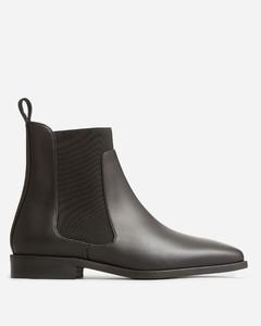 The Italian Leather Square Toe Chelsea Boot