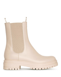 Chester mousse leather ankle boots