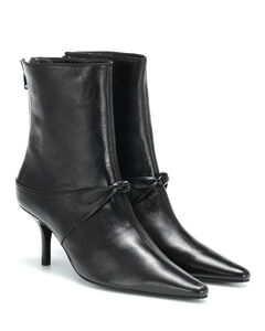 Groupie Knot皮革及踝靴