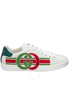 White Rekord leather sneakers