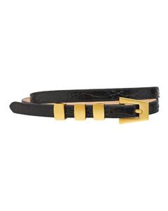 1.2cm Vic Croc Embossed Leather Belt