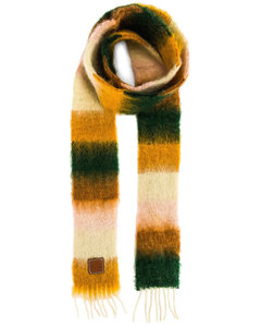 Stripe Mohair Scarf in Yellow,Green,Stripes