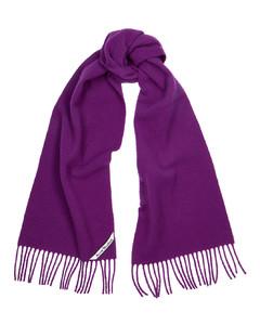 Holmes purple brushed wool scarf