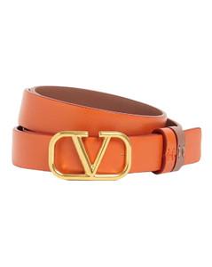 2cm Go Logo Reversible Leather Belt