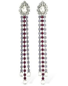 Multicolor Crystal Fringe Drop Earrings
