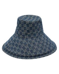 GG-jacquard denim hat