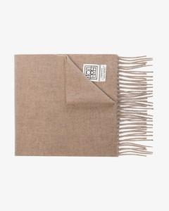 neutral Bova virgin wool scarf