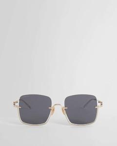 Metallic skinny tasseled scarf