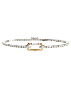 Mytheresa发售 —Paris钻石装饰18K黄金手链