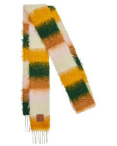 条纹马海毛混纺围巾