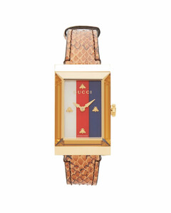 G-Frame snakeskin watch