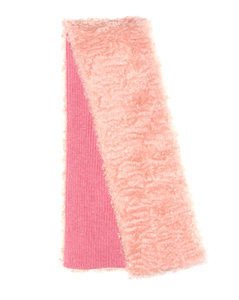 Mohair, cotton and virgin wool scarf