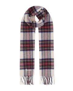 Fringed Check Wool Scarf