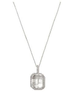 Cream logo-embroidered silk scarf